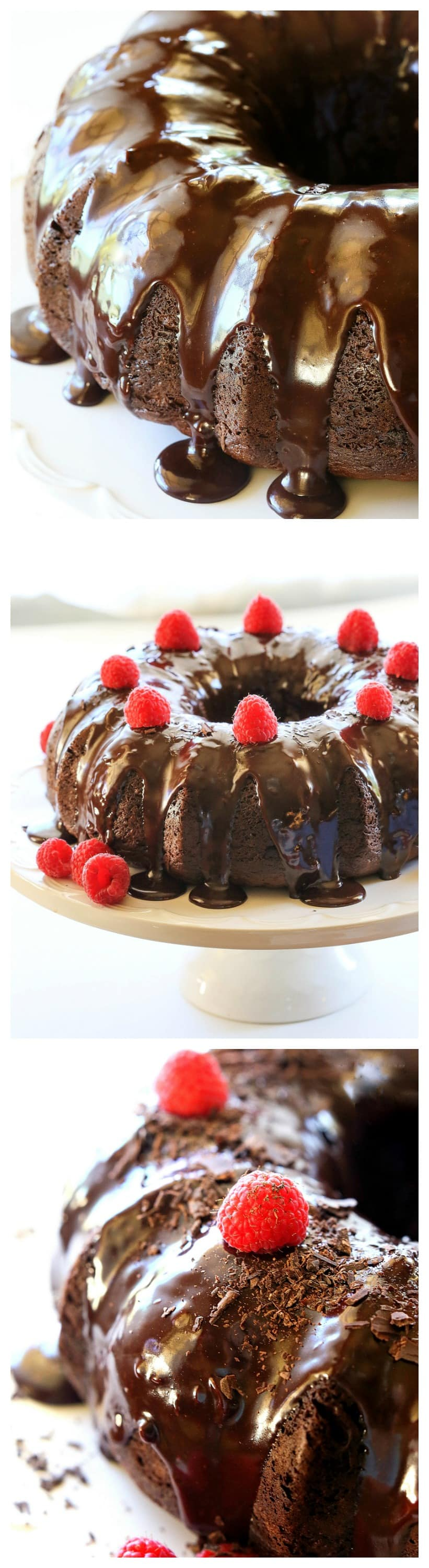 This Easy Chocolate Bundt Cake will make you a rock star with your friends and family. An incredibly moist cake topped with decadent chocolate glaze. #easy #chocolate #bundt #cake #dessert