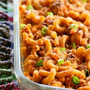 Easy Taco Bake - A pasta dish that tastes like a taco! the-girl-who-ate-everything,com