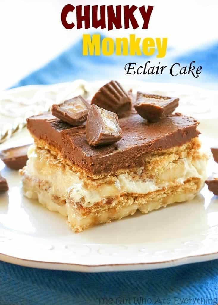 Chunky Monkey Eclair Cake