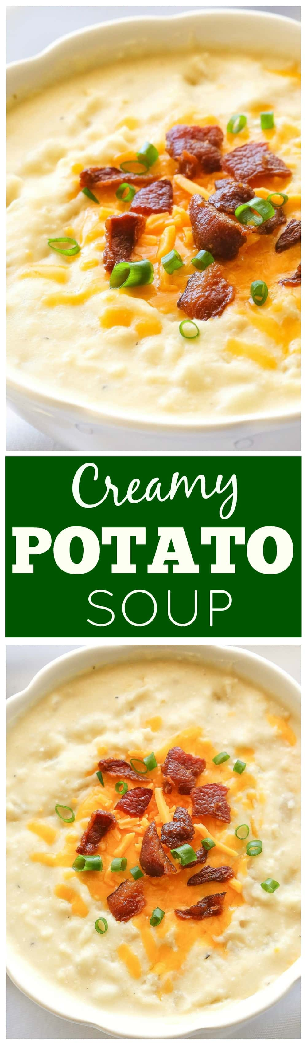 Creamy Potato Soup - a slow cooker soup that is so easy! the-girl-who-ate-everything.com