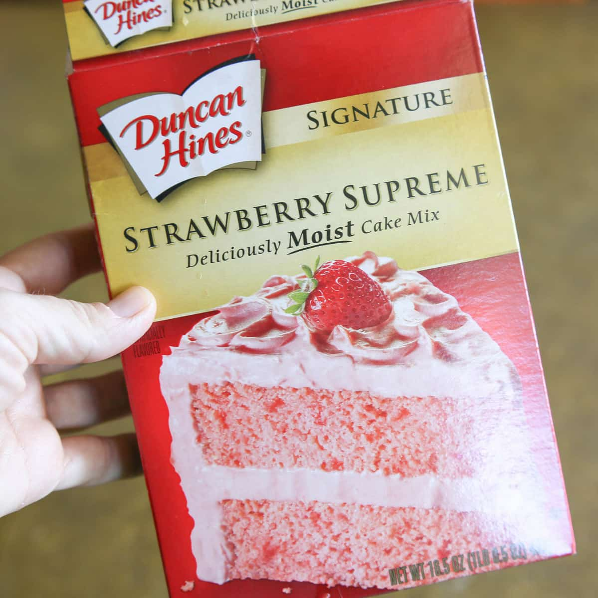 Strawberries And Cream Cake Mix a Strawberry Cake Mix
