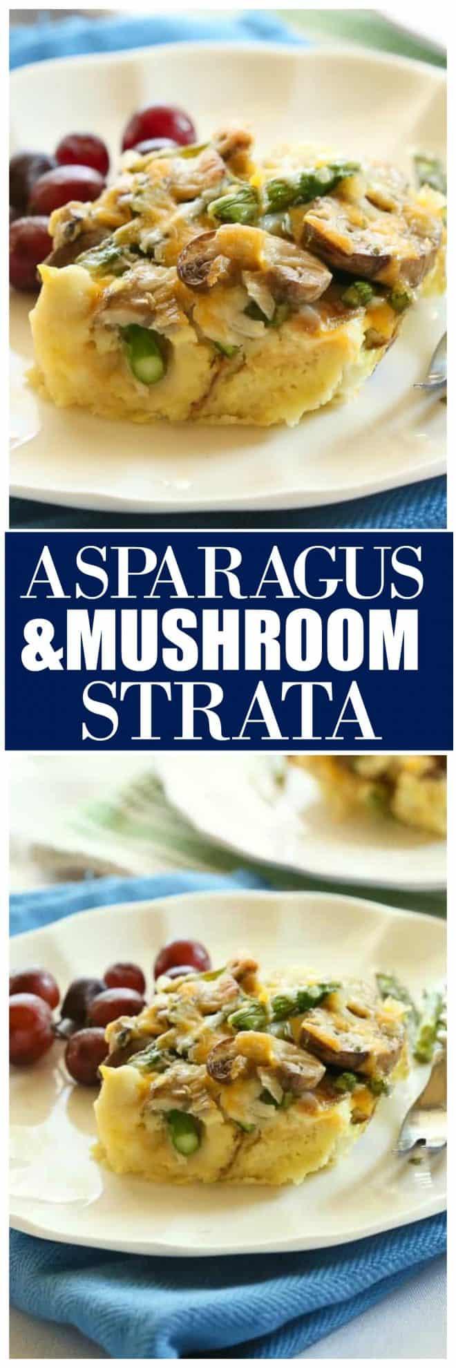 Asparagus and Mushroom Strata