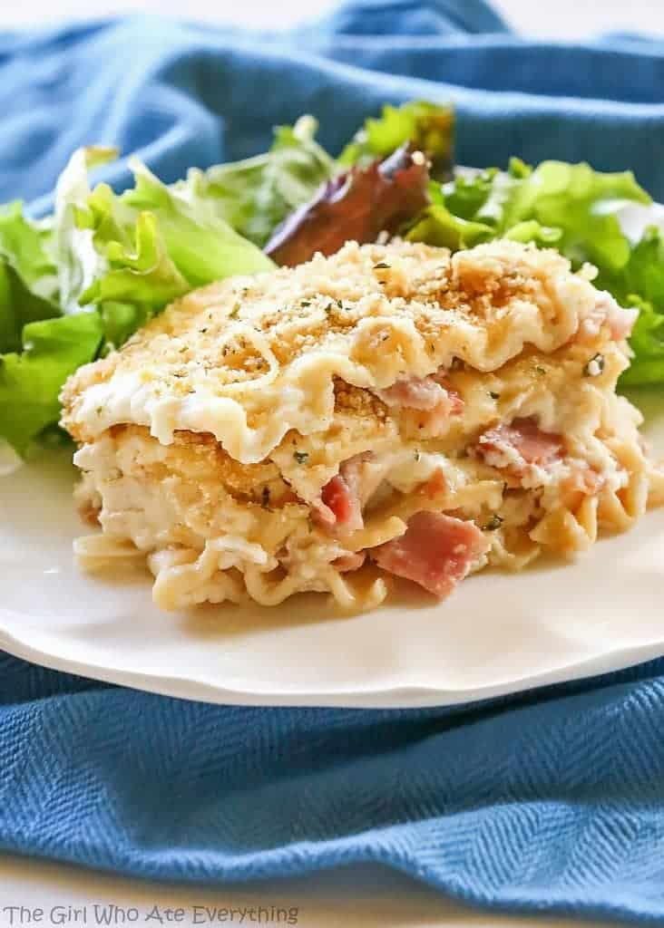 Chicken Cordon Bleu Lasagna Comfort Food At Its Best Layers Of Ham Chicken