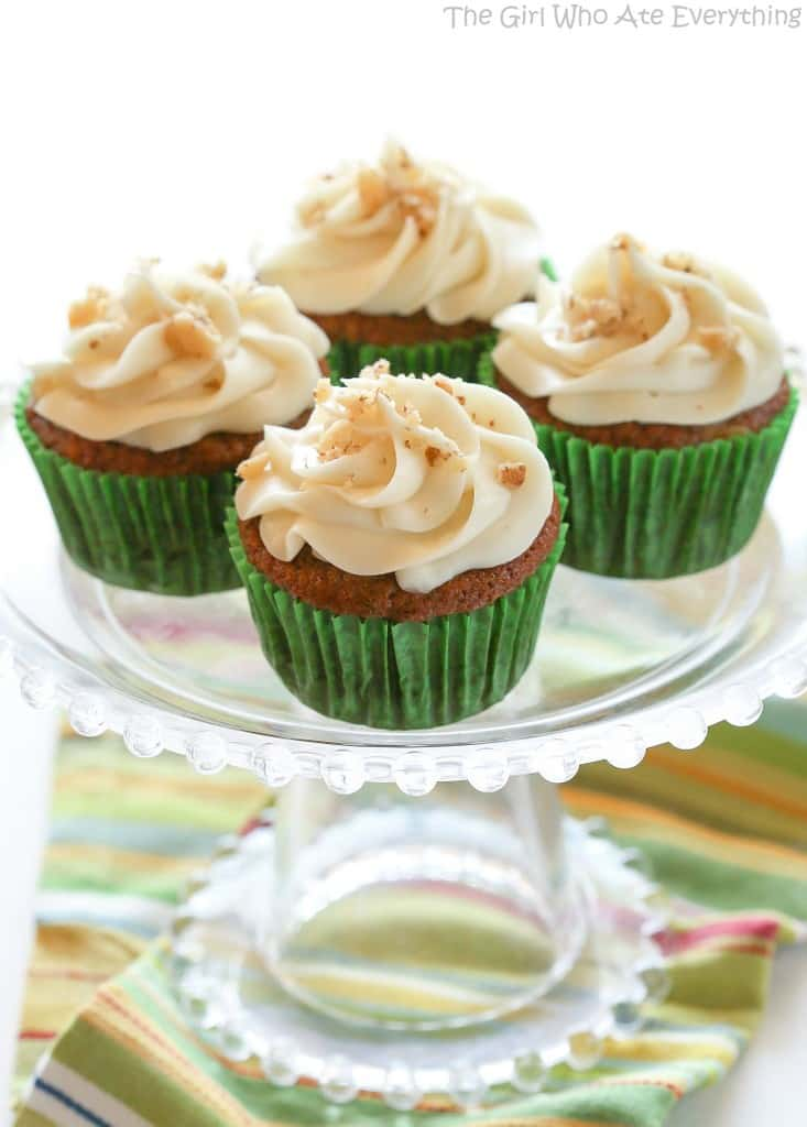 Carrot Cake Cupcakes with White Chocolate Cream Cheese Frosting - the ...