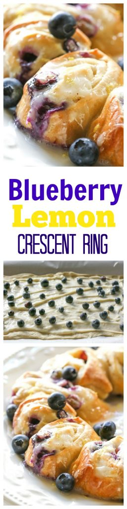 Blueberry Lemon Crescent Ring - an easy breakfast that's so good!!