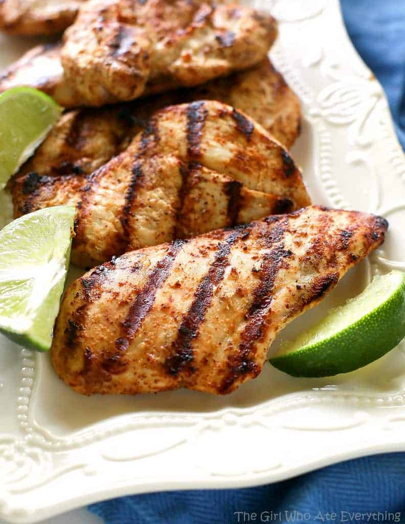 Grilled Mexican Lime Chicken The Girl Who Ate Everything
