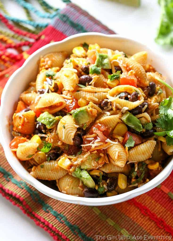 Taco Pasta Salad Recipe - The Girl Who Ate Everything