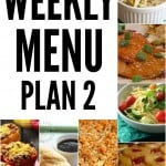 Weekly Menu Plan #2