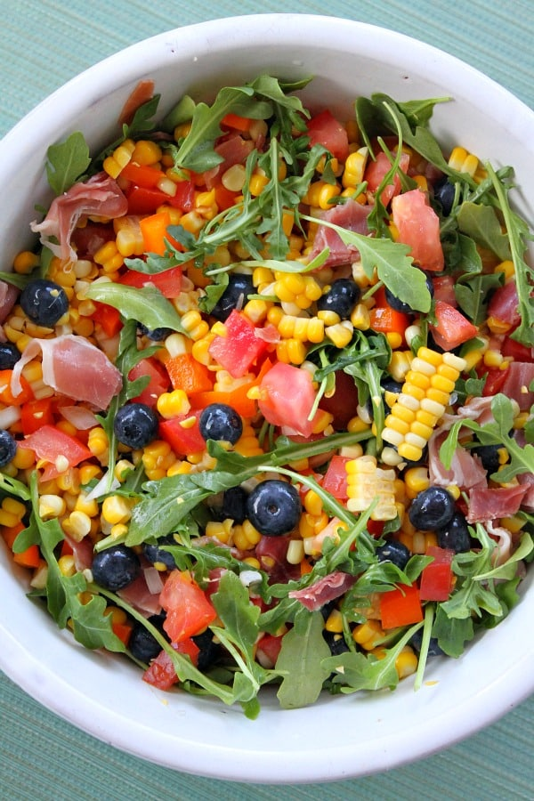 Blueberry Corn Salad with Prosciutto | Recipe Girl