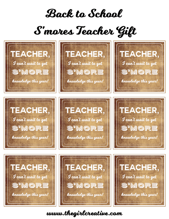 S'mores Back to School Tags