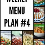 Weekly Menu Plan #4