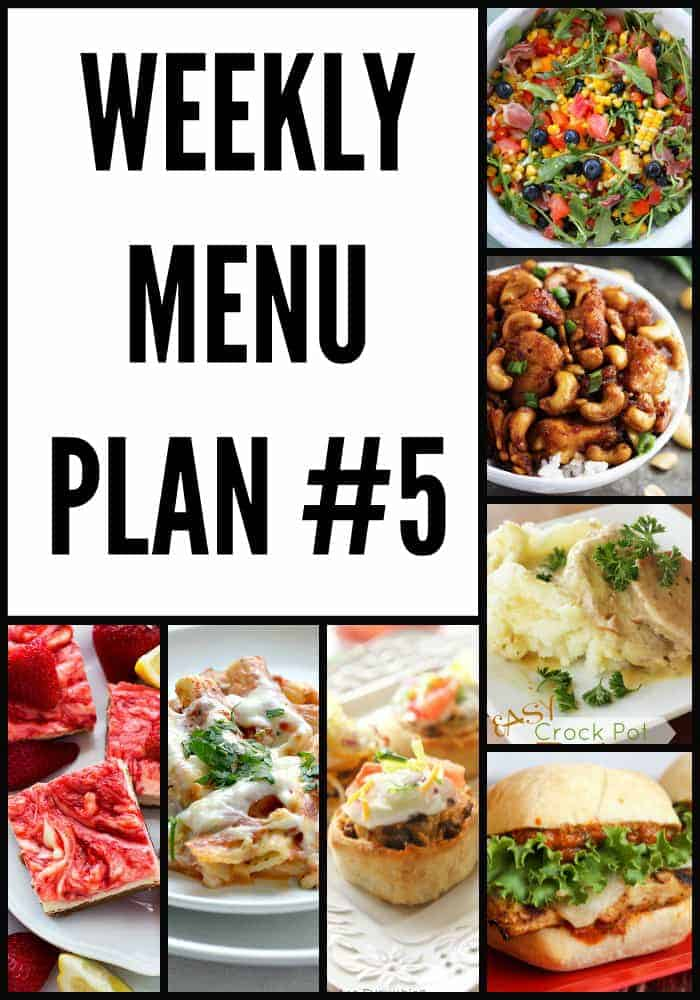 Weekly Menu Plan #5
