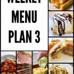 Weekly Menu Plan #3