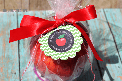 An apple for a teacher - content