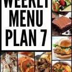 Weekly Menu Plan #7