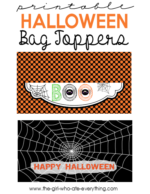 Halloween Bag Toppers-Graphic