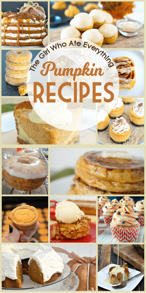 Pumpkin all the things! Delicious and festive pumpkin recipes for the fall. Cookies, breads, pies, donuts and more!