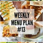 Weekly Menu Plan #13