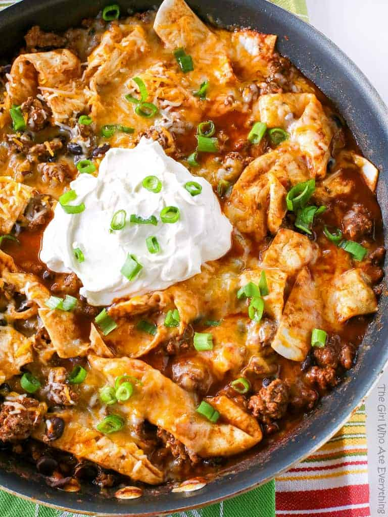 Easy Beef Burrito Skillet Recipe The Girl Who Ate Everything