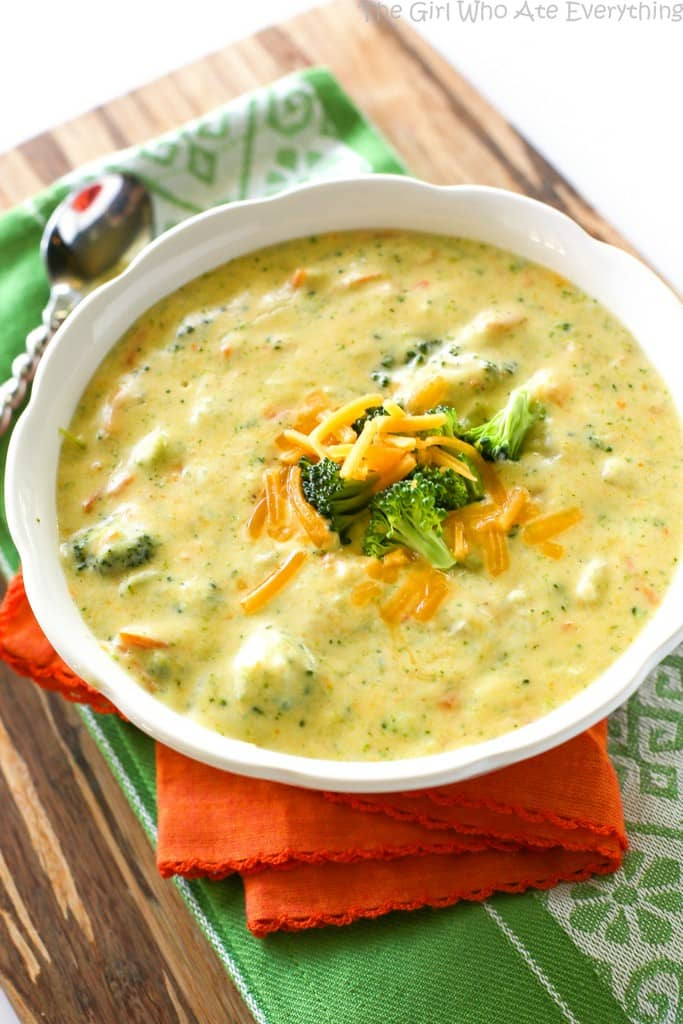 Panera's Broccoli Cheese Soup - The Girl Who Ate Everything