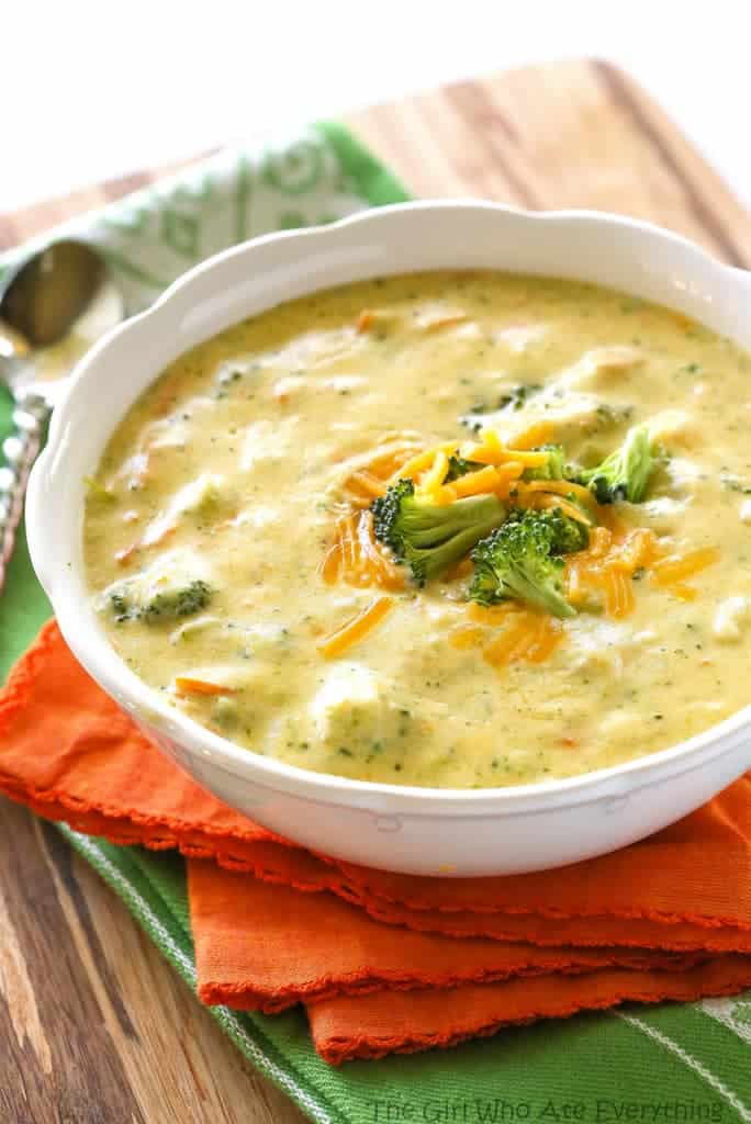 Panera\'s Broccoli Cheddar Soup - The Girl Who Ate Everything