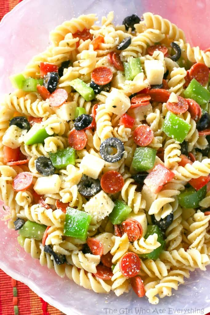 Easy Summer Pasta Salad-a simple pasta salad recipe that is perfect for all of your summer BBQ's and potlucks! Every summer our neighborhood has a huge BBQ at the park across from our house.