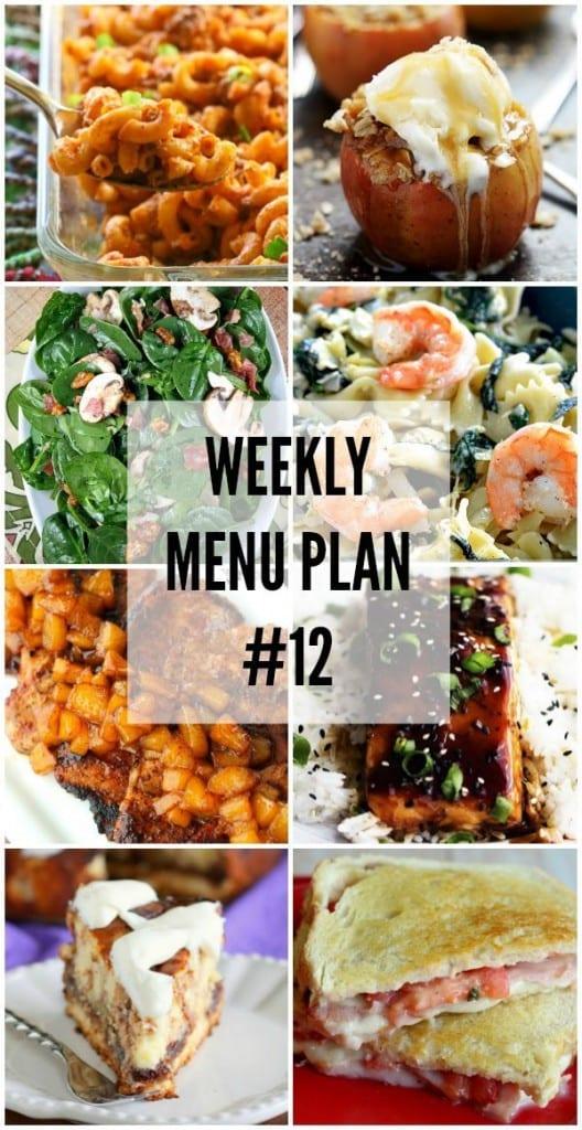 Weekly Menu Plan #12