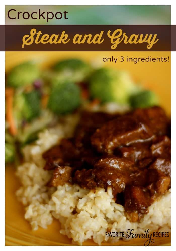 Crockpot Steak and Gravy - Weekly Menu Plan #18