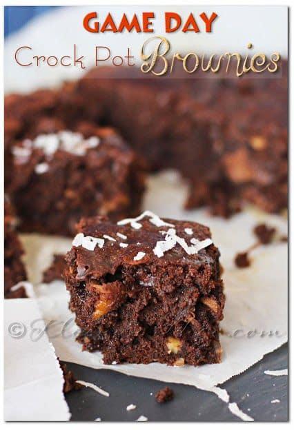 Game Day Crock Pot Brownies - Ultimate Tailgating Series