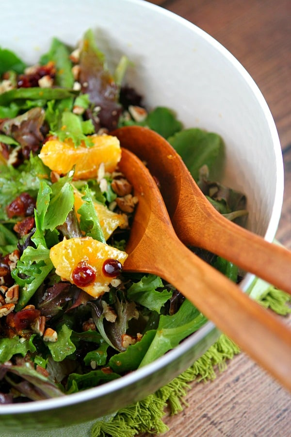 Mixed Green Salad with Oranges, Cranberries and Pecans - Weekly Menu Plan #18