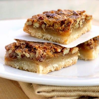 Pecan Pie Bars - Weekly Menu Plan #18