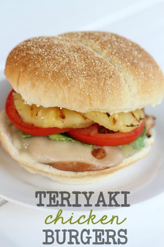 Teriyaki Chicken Burgers - Weekly Menu Plan #18