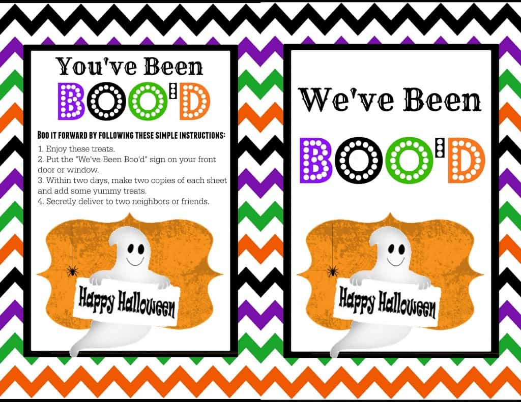 "You've Been Boo'd - A free cute printable to ""BOO"" your neighbors with! the-girl-who-ate-everything.com"