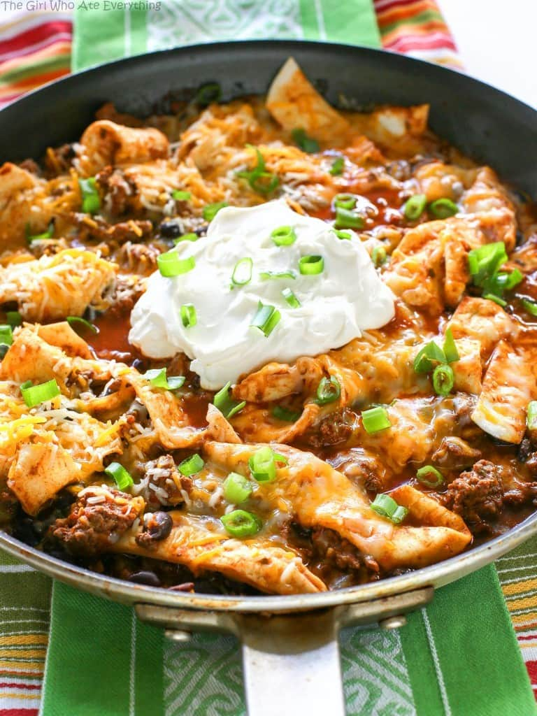 Easy Beef Burrito Skillet - Weekly Menu Plan #18