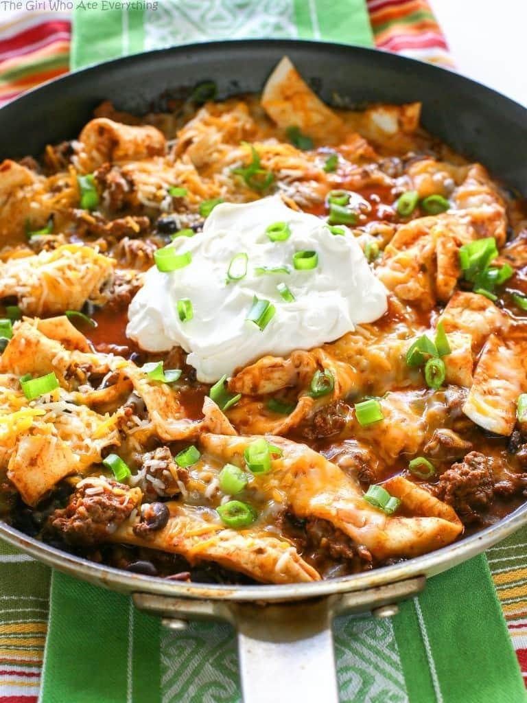 Easy Beef Burrito Skillet - Weekly Menu Plan #18