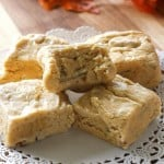 Pumpkin Fudge - creamy and so good! A fall staple. the-girl-who-ate-everything.com