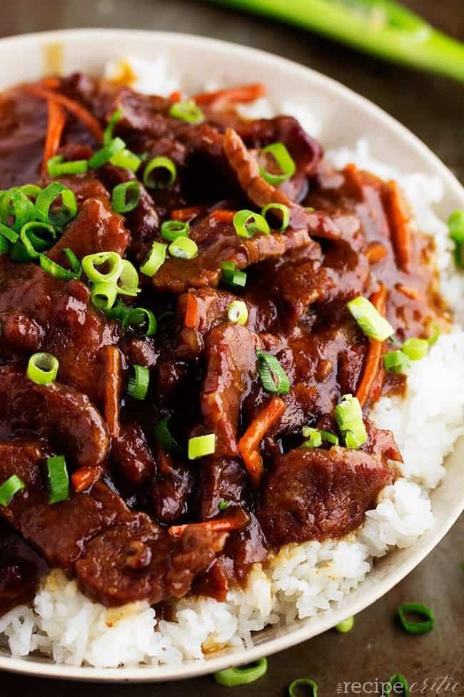 Slow Cooker Mongolian Beef - Weekly Menu #18