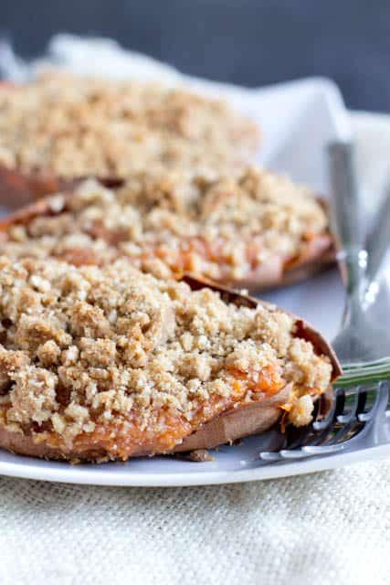 Twice Baked Sweet Potatoes // Oh Sweet Basil