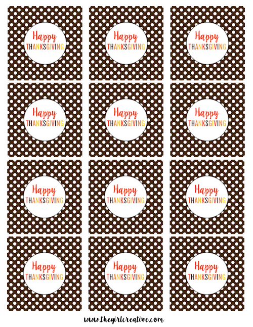 Thanksgiving Cupcake Toppers-Happy Thanksgiving