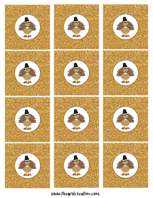 Thanksgiving Cupcake Toppers-Turkey