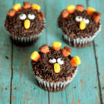 Turkey Cupcakes with Toppers