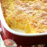 Corn Soufflé - one of my favorite recipes at Thanksgiving and always one of the first dishes to go. the-girl-who-ate-everything.com