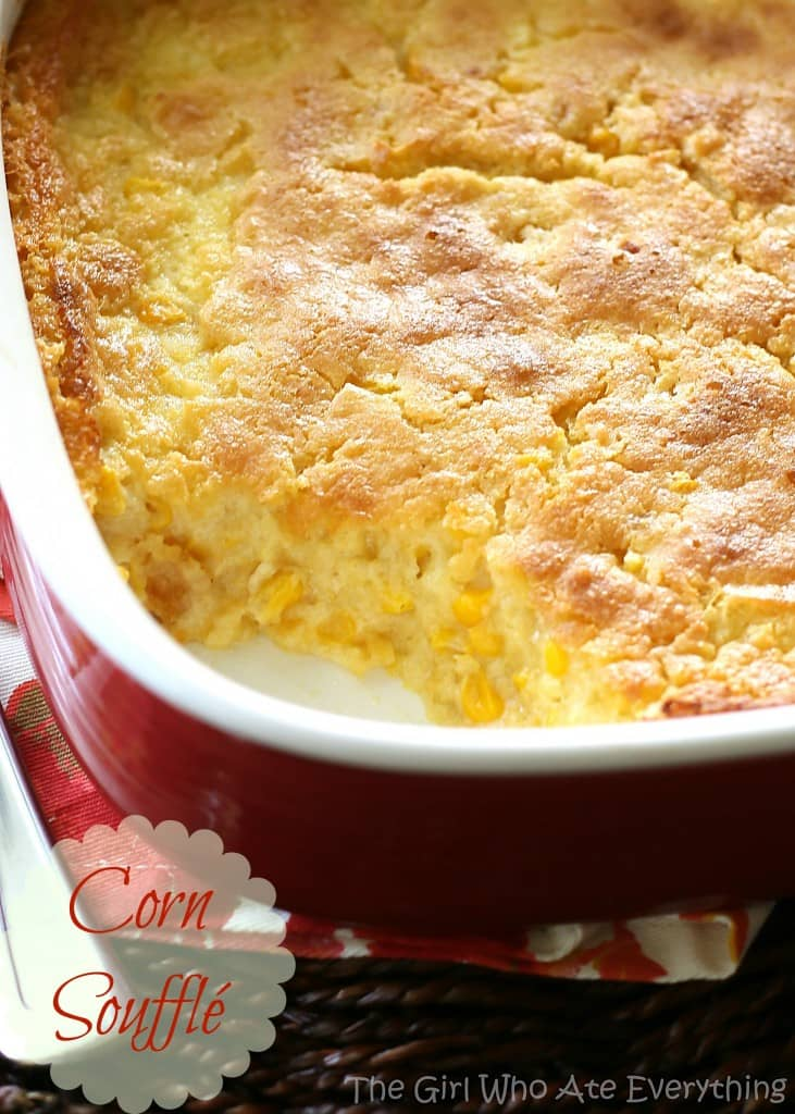 Corn Pudding - one of my favorite recipes at Thanksgiving and always one of the first dishes to go. #corn #pudding #recipe #thanksgiving