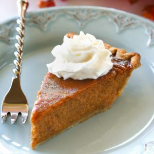 Pumpkin Eggnog Pie - a traditional pumpkin pie with an eggnog twist. the-girl-who-ate-everything.com