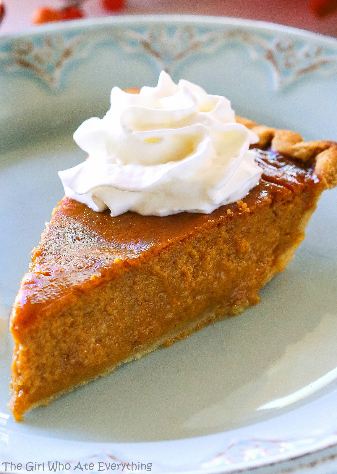 Pumpkin Eggnog Pie - Thanksgiving dessert meets Christmas dessert! the-girl-who-ate-everything.com