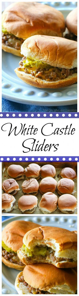 These White Castle Sliders are a copycat version of the famous sandwich.I can't promise that they're exactly the same, only better. #white #castle #sliders #sandwich #recipe