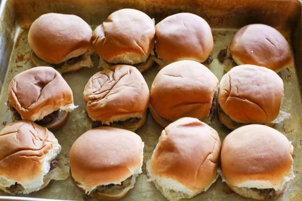 White Castle Sliders - a copycat version of the sandwich great for parties. I can't vouch that they're exactly the same but they're good! the-girl-who-ate-everything.com
