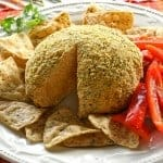 Mexican Cheese Ball - an easy Mexican flavored cheese ball that can be eaten with chips or sliced veggies. the-girl-who-ate-everything.com