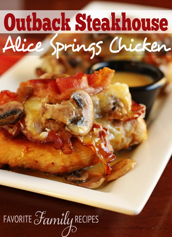 Alice Springs Chicken - Weekly Menu Plan #33
