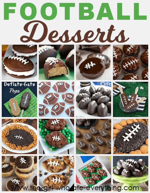 Super fun and delicious football themed desserts for Super Bowl Sunday